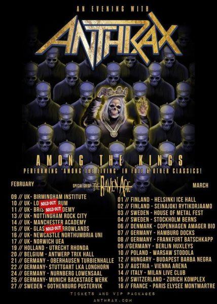 Anthrax Among the Kings Tour