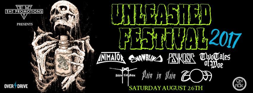 unleashed festival banner