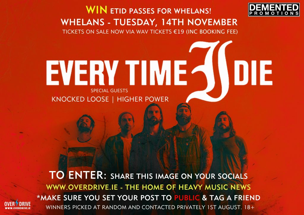 EVERY TIME I DIE (DEMENTED PROMOTIONS)