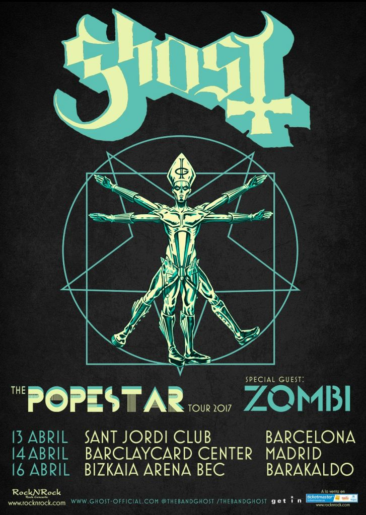 ghost spain tour poster