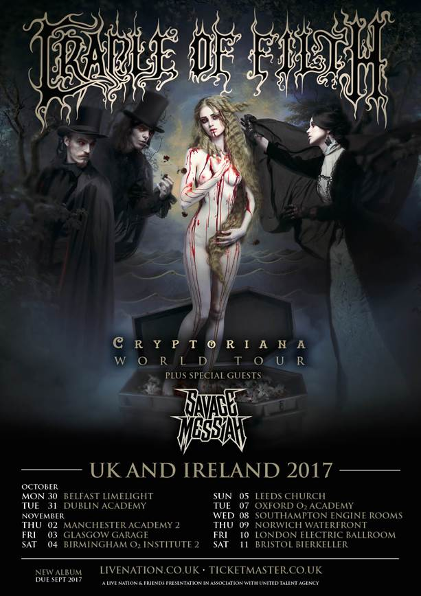 Cradle of Filth UK/Ire Tour 2017