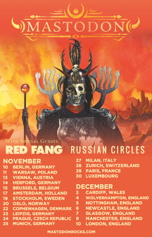 Red Fang : Mastodon Tour 2017
