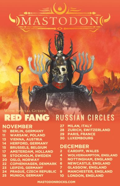 Mastodon, Red Fang, Russian Circles tour