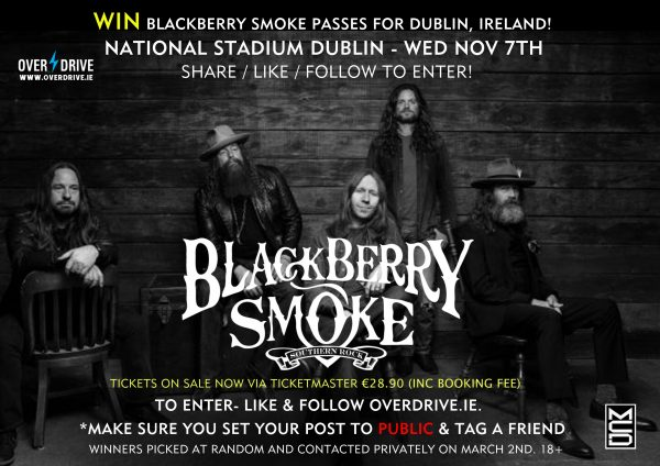 BLACKBERRY SMOKE COMP 2018 dublin