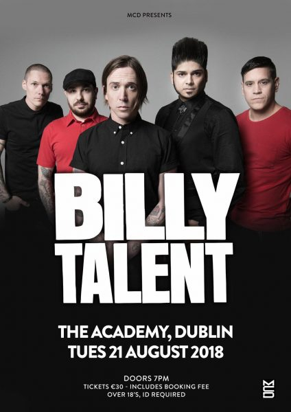 Billy Talent Academy Dublin