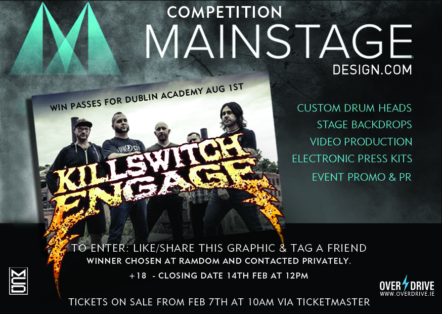 WIN PASSES FOR EXCLUSIVE KILLSWITCH ENGAGE HEADLINE SHOW IN