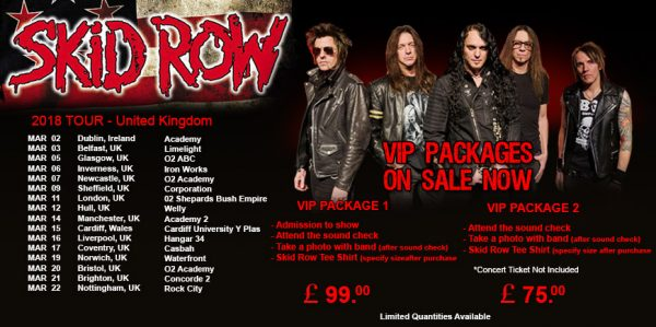 Skid Row tour banner