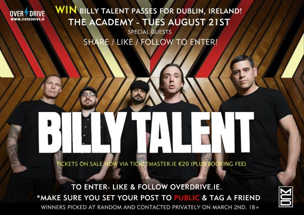 billy talent comp dublin