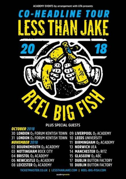 less than jake, reel big fish