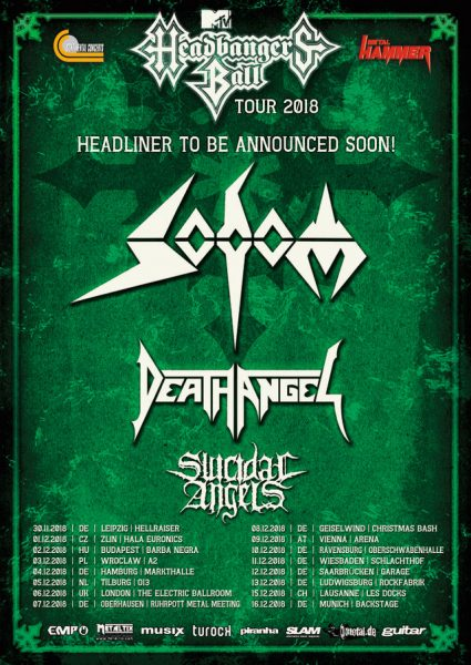Headbangers Ball, Death Angel, Sodom, Suidice Angles