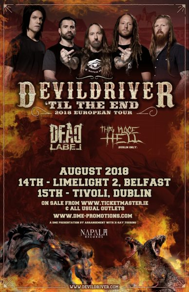 devildriver, dead label, this place hell
