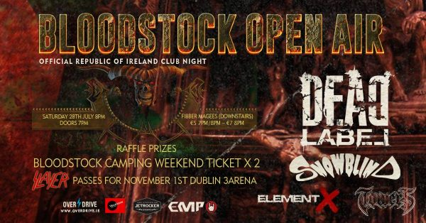 Win Bloodstock weekend tickets as well as Slayer passes for Dublin. Click here!