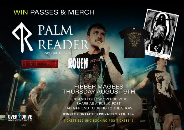 Win Palm Reader passes and merch for their Dublin show on August 9th! Click here!