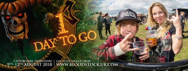 Bloodstock 1 day to go