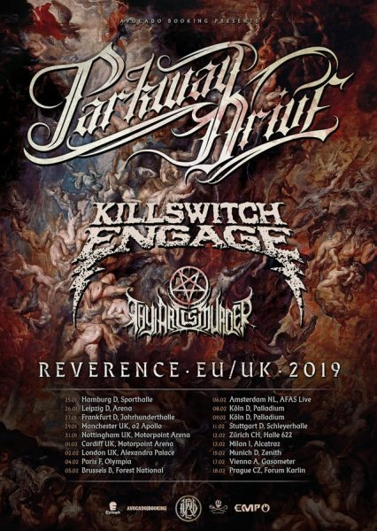 thy art is murder, parkway drive, killwsitch engage