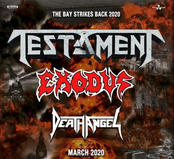 Best Thrash 2020 TESTAMENT / EXODUS / DEATH ANGEL team up for the 'Bay Strikes Back